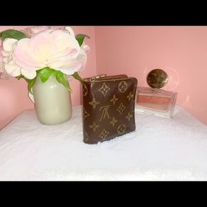 Louis Vuitton Brown Monogram Compact Zip Wallet
